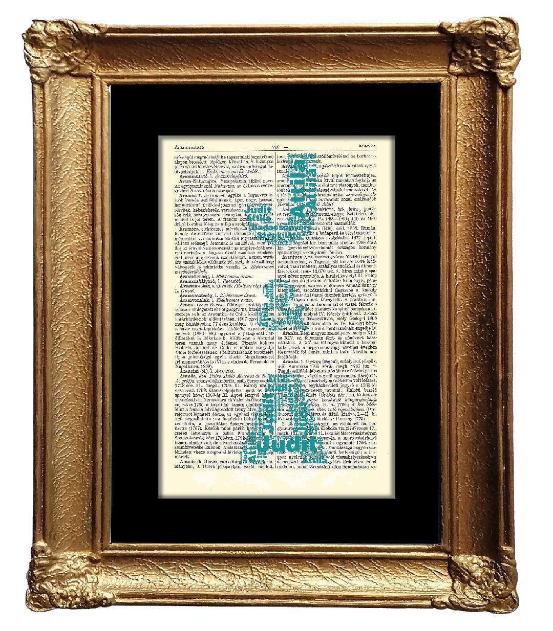 Több betű formájában alkotott egyéni szófelhő