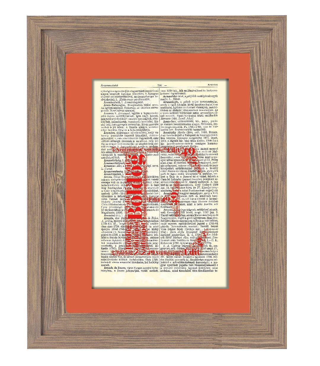 Egy betű formájában alkotott egyéni szófelhő