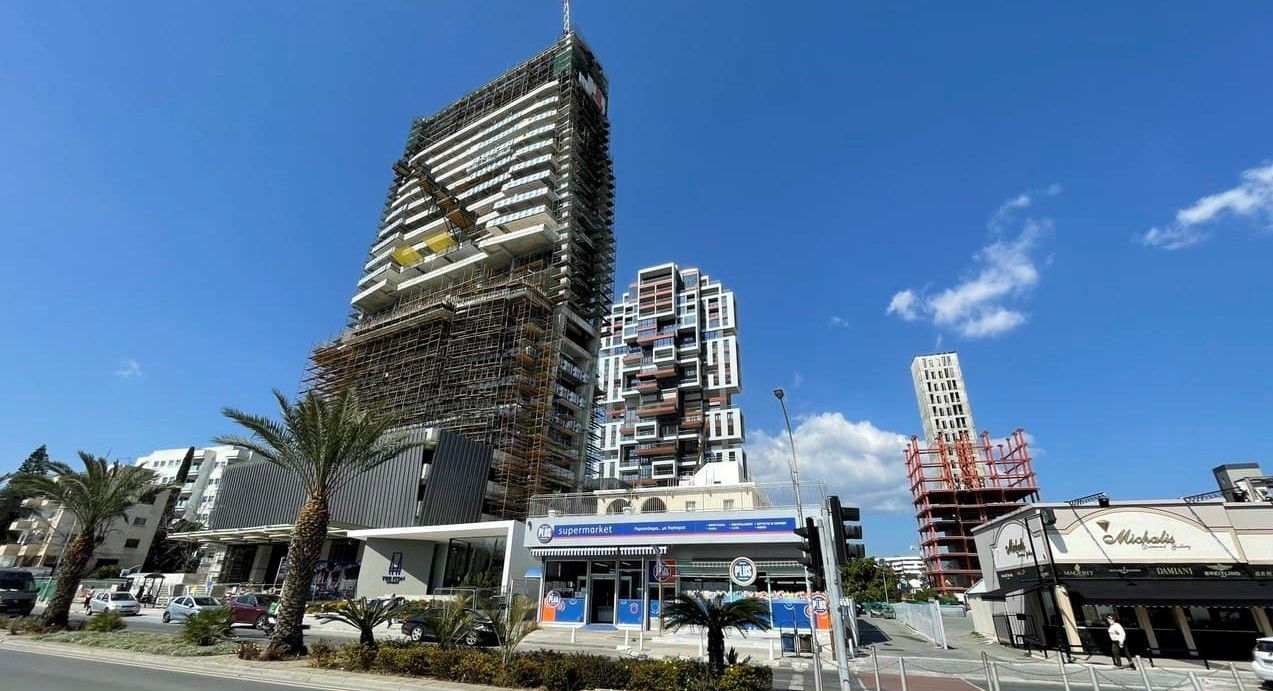 Large skyscrapers being built in Limassol