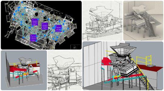 Modelare 3D zona industriala