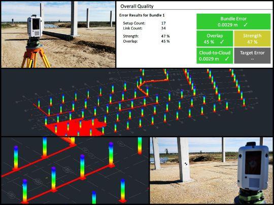 Scanari 3D - stalpi de beton