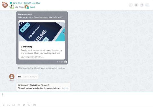Online chat v Bitrix24 - <Online chat v Bitrix24>